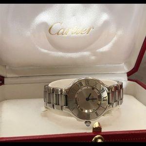 Ladies Cartier Must 21 1340 Quartz Model W10109T2